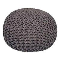 LABEL51 puf str. M strikket bomuld mørkegrå