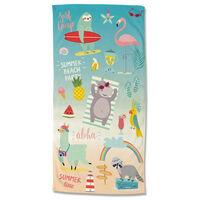 Good Morning badehåndklæde HOLIDAYS 75x150 cm flerfarvet