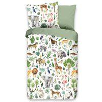 Good Morning sengetøj til børn JUNGLE 120x150 cm flerfarvet