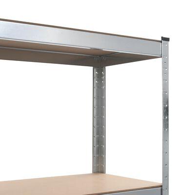 vidaXL opbevaringsreoler 2 stk. 80 x 40 x 160 cm stål MDF sølvfarvet