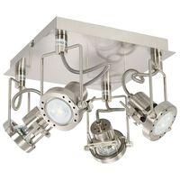 vidaXL 4-vejs spotlampe GU10 sølvfarvet