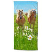 Good Morning badehåndklæde HORSES 75x150 cm flerfarvet