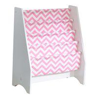 KidKraft bogreol til børn 60,96 x 29,85 x 71,12 cm pink og hvid