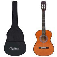 """vidaXL klassisk guitarsæt 8 dele til børn og begyndere 3/4 36"""""""