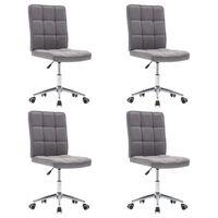 vidaXL spisebordsstole 4 stk. stof lysegrå