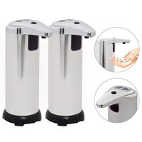 vidaXL automatisk sæbedispenser 2 stk. infrarød sensor 600 ml