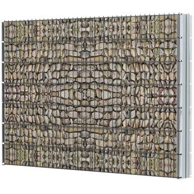 vidaXL 2D gabionhegn galvaniseret stål 2,008x1,43 m 2 m grå