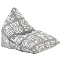 vidaXL sækkestol stof patchwork grå