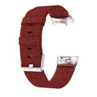 Fitbit Charge 3 armbånd lærred rød - S