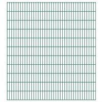 vidaXL havehegnspaneler 2D 2,008x2,23 m 18 m (total længde) grøn