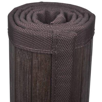 vidaXL bademåtter 4 stk. 60 x 90 cm bambus mørkebrun