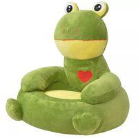 vidaXL børnestol i plys grøn frø