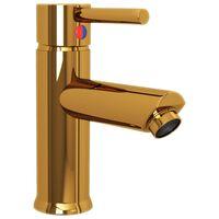 vidaXL vandhane til badeværelseshåndvask 130x176 mm guldfarvet