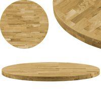 vidaXL bordplade i massivt egetræ rund 44 mm 900 mm