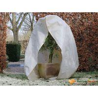Nature frostdækken i fleece med lynlås 70 g/m² 2x1,5x1,5 m beige
