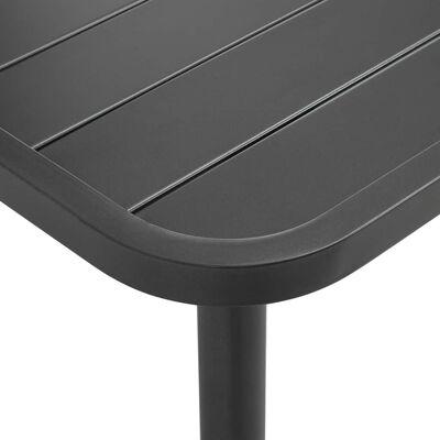 vidaXL havebord 80 x 80 x 72 cm stål mørkegrå
