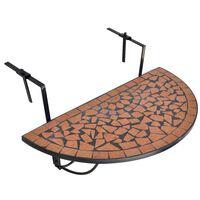 vidaXL hængende balkonbord mosaik terracotta