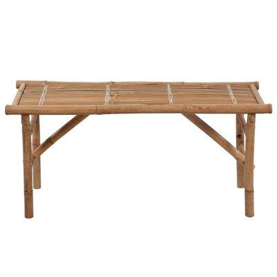 vidaXL foldbar havebænk med hynde 118 cm bambus