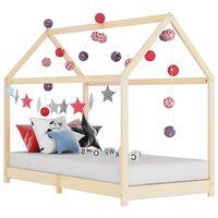 vidaXL sengestel til børneseng 80 x 160 cm massivt fyrretræ