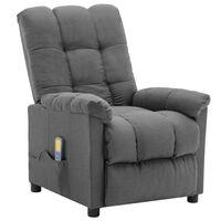 vidaXL massagelænestol stof lysegrå