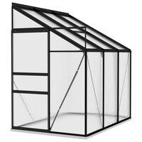 vidaXL drivhus 3,97 m² aluminium antracitgrå