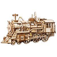 Robotime mekanisk trætog Locomotive