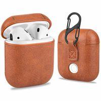 Taske til Apple AirPods 1/2 - PU læder - lysebrun