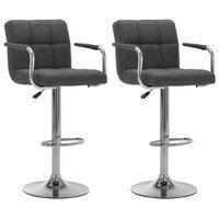 vidaXL barstole 2 stk. stof mørkegrå