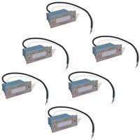 vidaXL forsænkede LED-trappelamper, 6 stk., 44x111x56 mm