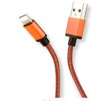 USB-C flettet opladerkabel 1m - orange
