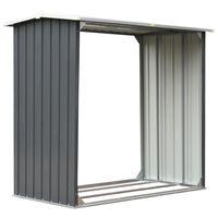 vidaXL brændeskur til haven galvaniseret stål 172 x 91 x 154 cm grå