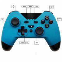 Håndholdt controller til Nintendo Switch - trådløs - blå