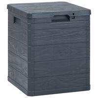 vidaXL opbevaringskasse til haven 90 l antracitgrå