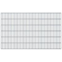 vidaXL havehegnspaneler 2D 2,008x1,23 m 14 m (total længde) grå
