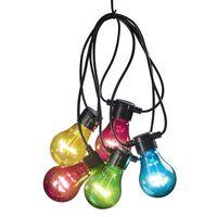 KONSTSMIDE lyskæde med 10 lamper startsæt flerfarvet