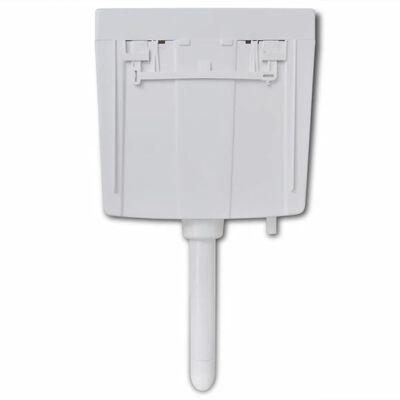 vidaXL toiletcisterne 3/6 l hvid