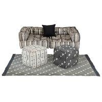 vidaXL modulært sofasæt i 6 dele stof striber