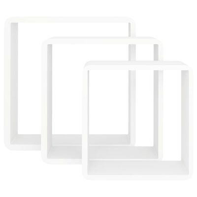 vidaXL kubeformede væghylder 3 stk. MDF hvid