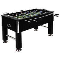 vidaXL fodboldbord 60 kg 140 x 74,5 x 87,5 cm stål sort