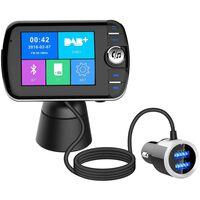 Trådløs Bluetooth LCD FM-sender med MP3 USB håndfri til bilen