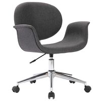 vidaXL drejelig kontorstol stof grå