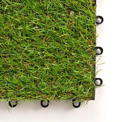 vidaXL kunstgræsfliser 10 stk. 30 x 30 cm grøn