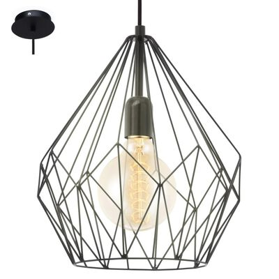 EGLO Pendel lampe Carlton 1 Sort 49257