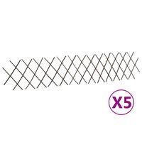 vidaXL pilehegn med espalier 5 stk. 180x30 cm