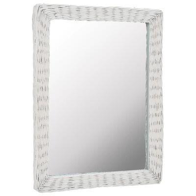vidaXL spejl i flet hvid 60 x 80 cm