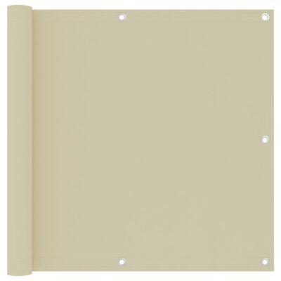 vidaXL altanafskærmning 90x300 cm oxfordstof cremefarvet