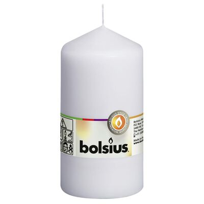 Bolsius bloklys 8 stk. 130 x 68 mm hvid