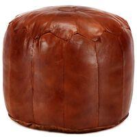 vidaXL puf 40 x 35 cm ægte gedeskind gyldenbrun