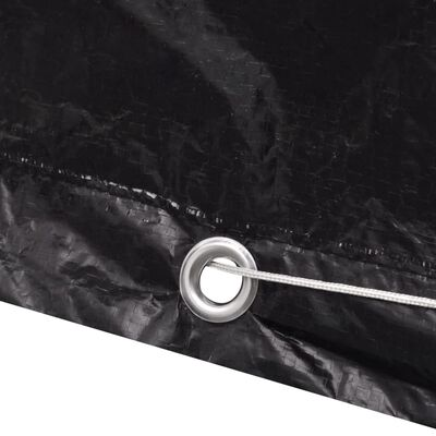 vidaXL møbelovertræk 2 stk. 4 pers. polyrattansæt 8 huller 180x140 cm