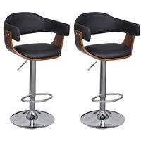 vidaXL barstole 2 stk. kunstlæder brun